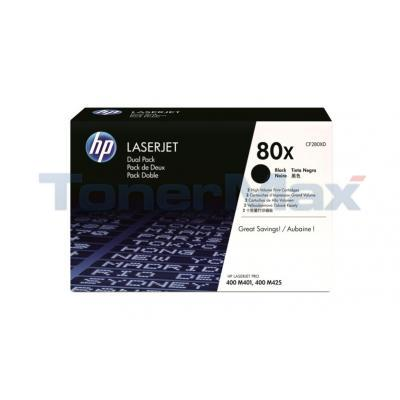 HP NO 80X PRINT CARTRIDGE DUAL PACK 13.8K